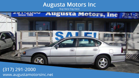 2002 Chevrolet Impala for sale at Augusta Motors Inc in Indianapolis IN