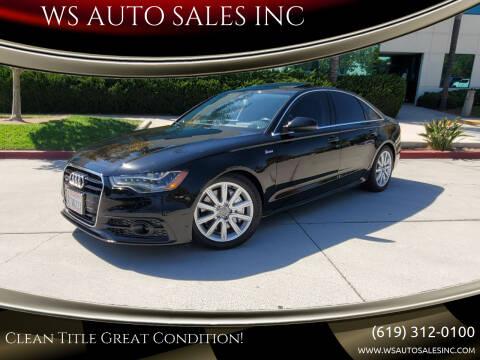 2012 Audi A6 for sale at WS AUTO SALES INC in El Cajon CA