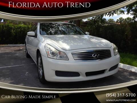 2009 Infiniti G37 Sedan for sale at Florida Auto Trend in Plantation FL