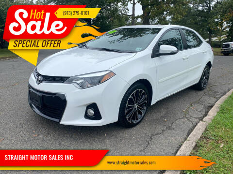 2015 Toyota Corolla for sale at STRAIGHT MOTOR SALES INC in Paterson NJ