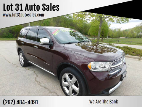 2012 Dodge Durango for sale at Lot 31 Auto Sales in Kenosha WI