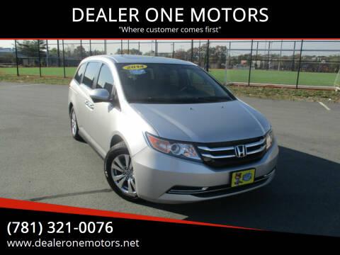 2014 Honda Odyssey for sale at DEALER ONE MOTORS in Malden MA
