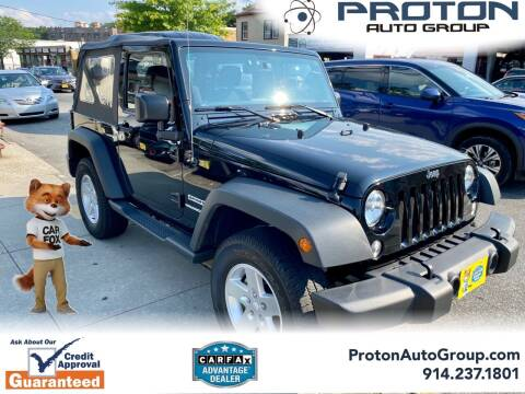 2015 Jeep Wrangler for sale at Proton Auto Group in Yonkers NY