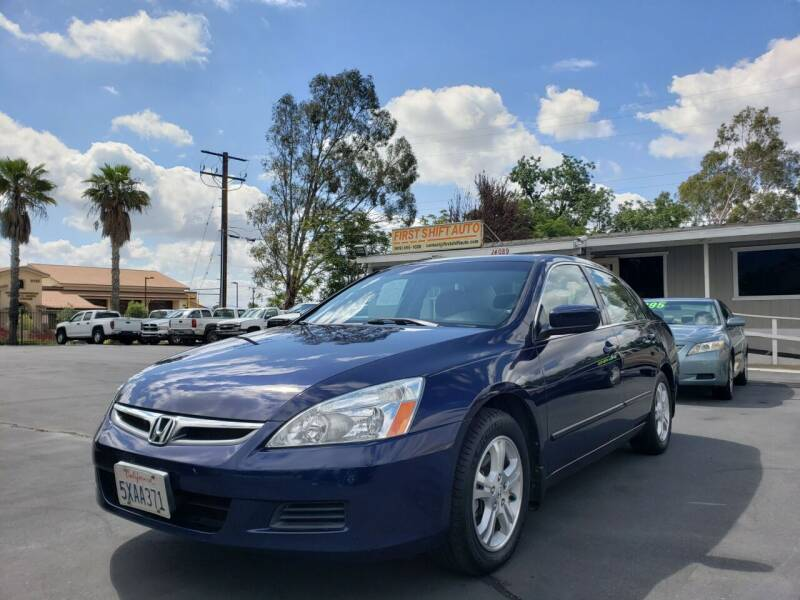 2007 Honda Accord for sale at First Shift Auto in Ontario CA