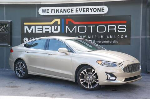 2019 Ford Fusion for sale at Meru Motors in Hollywood FL