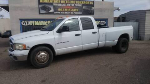 2005 Dodge Ram Pickup 3500 for sale at Advantage Motorsports Plus in Phoenix AZ