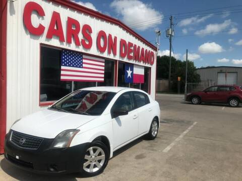 2007 Nissan Sentra for sale at Cars On Demand in Pasadena TX