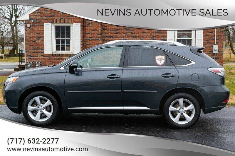 2011 Lexus RX 350 for sale at Nevins Automotive Sales in Hanover PA