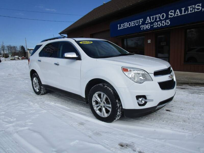 2012 Chevrolet Equinox for sale at LeBoeuf Auto Sales in Waterford PA