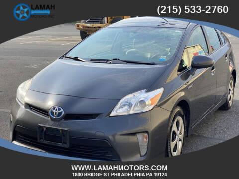 2012 Toyota Prius for sale at LAMAH MOTORS INC in Philadelphia PA
