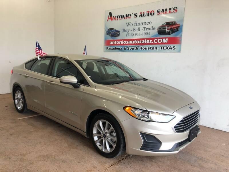 2019 Ford Fusion Hybrid for sale at Antonio's Auto Sales - Antonio`s  2206 in Pasadena TX