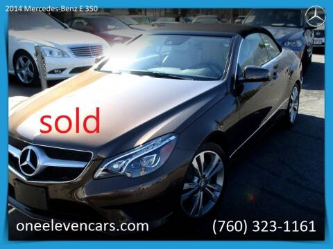 2014 Mercedes-Benz E-Class for sale at One Eleven Vintage Cars in Palm Springs CA
