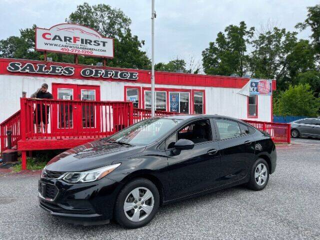 2018 Chevrolet Cruze for sale at CARFIRST ABERDEEN in Aberdeen MD