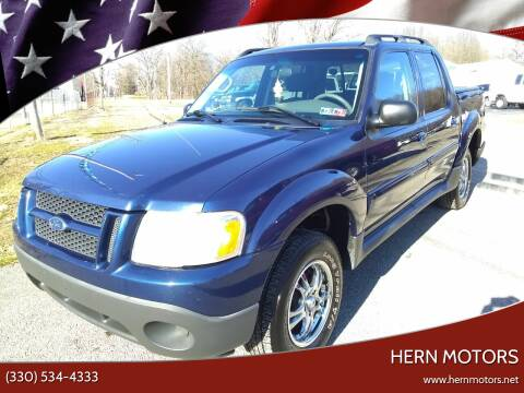 2005 Ford Explorer Sport Trac for sale at Hern Motors - 2021 BROOKFIELD RD Lot in Hubbard OH