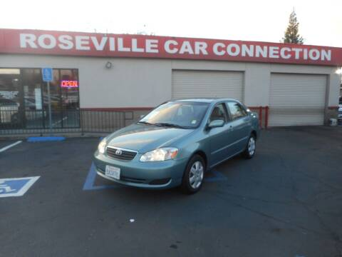 2007 Toyota Corolla for sale at ROSEVILLE CAR CONNECTION in Roseville CA