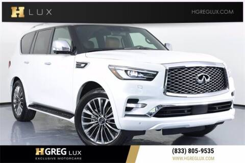 2021 Infiniti QX80 for sale at HGREG LUX EXCLUSIVE MOTORCARS in Pompano Beach FL