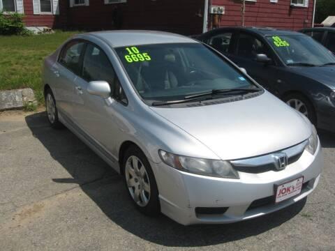 2010 Honda Civic for sale at Joks Auto Sales & SVC INC in Hudson NH