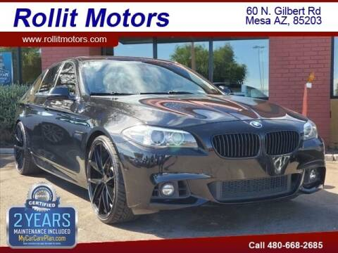 2016 BMW 5 Series for sale at Rollit Motors in Mesa AZ