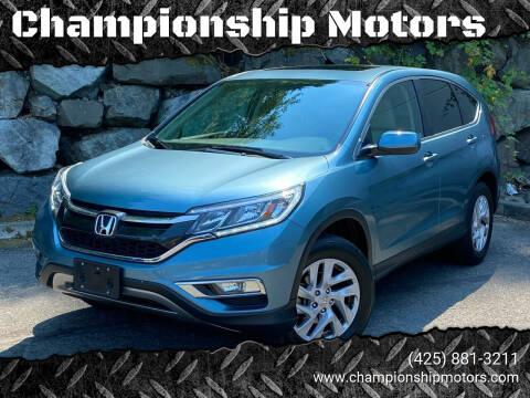 2016 Honda CR-V for sale at Championship Motors in Redmond WA