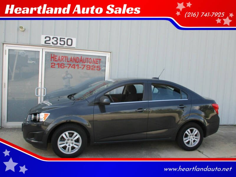 2015 Chevrolet Sonic for sale at Heartland Auto Sales in Medina OH