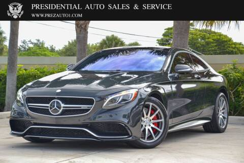 2015 Mercedes-Benz S-Class for sale at Presidential Auto  Sales & Service in Delray Beach FL