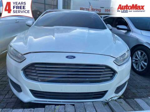 2014 Ford Fusion for sale at Auto Max in Hollywood FL