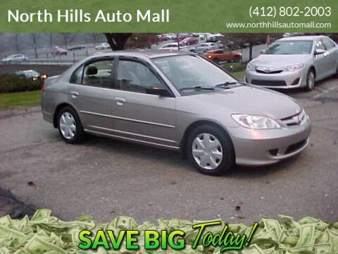 2005 Honda Civic for sale at North Hills Auto Mall in Pittsburgh PA