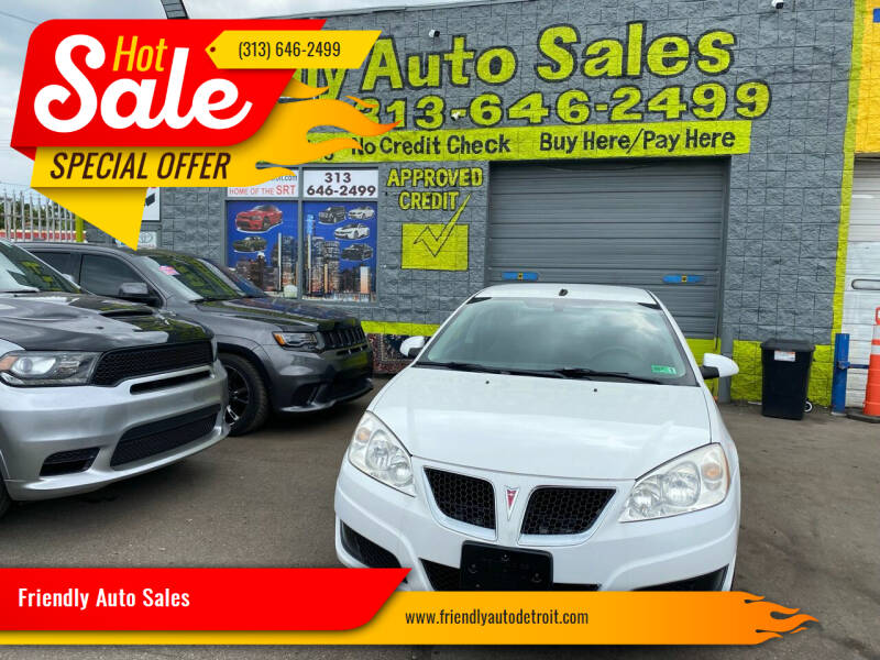 2010 Pontiac G6 for sale at Friendly Auto Sales in Detroit MI