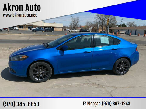 2015 Dodge Dart for sale at Akron Auto - Fort Morgan in Fort Morgan CO