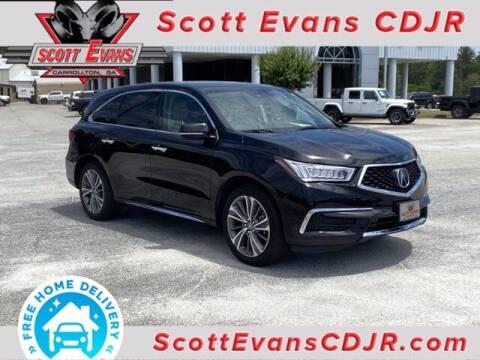 2018 Acura MDX for sale at SCOTT EVANS CHRYSLER DODGE in Carrollton GA