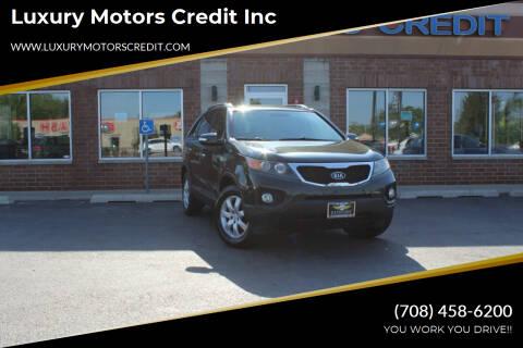 2011 Kia Sorento for sale at Luxury Motors Credit Inc in Bridgeview IL