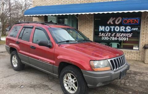 2002 Jeep Grand Cherokee for sale at K O Motors in Akron OH