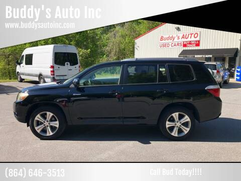2009 Toyota Highlander for sale at Buddy's Auto Inc in Pendleton SC