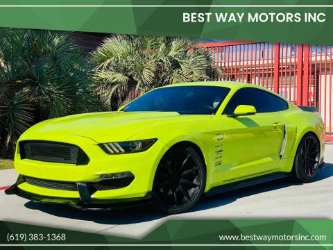 2016 Ford Mustang for sale at BEST WAY MOTORS INC in San Diego CA