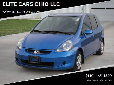 2007 Honda Fit for sale at ELITE CARS OHIO LLC in Solon OH