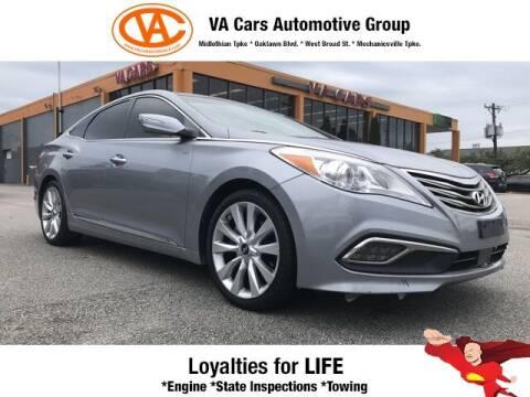 2016 Hyundai Azera for sale at VA Cars Inc in Richmond VA