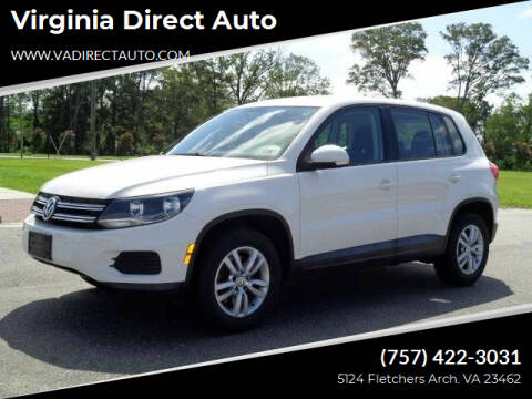 2013 Volkswagen Tiguan for sale at Virginia Direct Auto in Virginia Beach VA