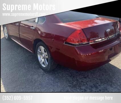 2011 Chevrolet Impala for sale at Supreme Motors in Tavares FL