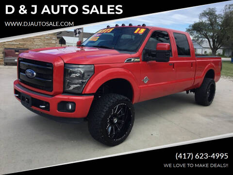 2013 Ford F-350 Super Duty for sale at D & J AUTO SALES in Joplin MO