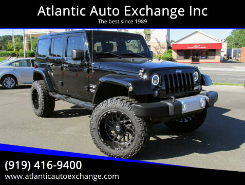 2014 Jeep Wrangler Unlimited for sale at Atlantic Auto Exchange Inc in Durham NC