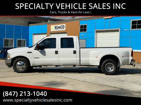 2003 Ford F-350 Super Duty for sale at SPECIALTY VEHICLE SALES INC in Skokie IL