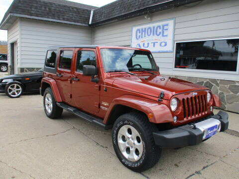 2014 Jeep Wrangler Unlimited for sale at Choice Auto in Carroll IA