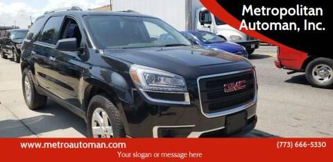 2014 GMC Acadia for sale at Metropolitan Automan, Inc. in Chicago IL