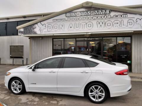 2018 Ford Fusion Hybrid for sale at Don Auto World in Houston TX