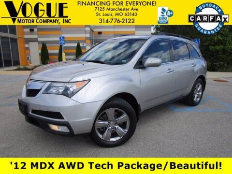 2012 Acura MDX for sale at Vogue Motor Company Inc in Saint Louis MO