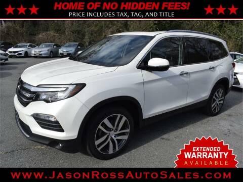 2017 Honda Pilot for sale at Jason Ross Auto Sales in Burlington NC