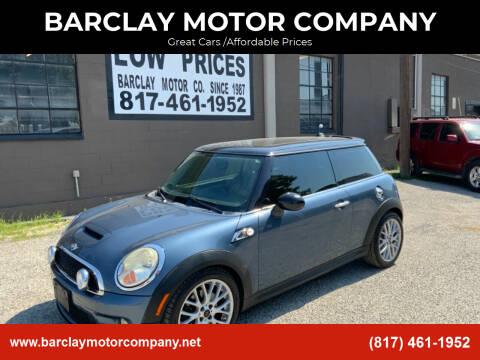 2010 MINI Cooper for sale at BARCLAY MOTOR COMPANY in Arlington TX
