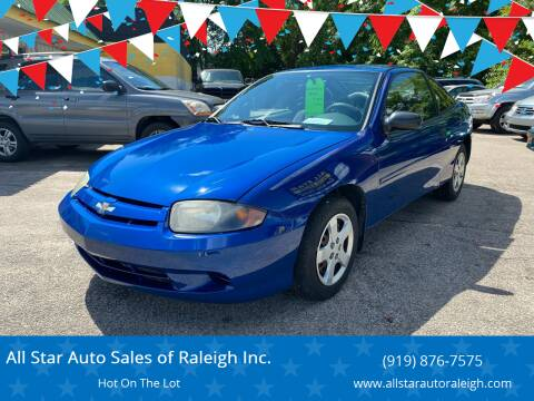 2004 Chevrolet Cavalier for sale at All Star Auto Sales of Raleigh Inc. in Raleigh NC