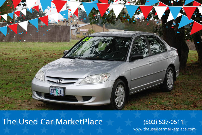 2005 Honda Civic for sale at The Used Car MarketPlace in Newberg OR