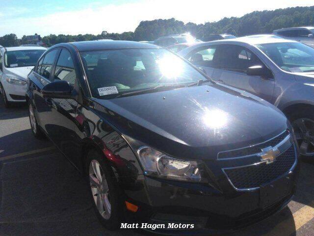 2014 Chevrolet Cruze for sale at Matt Hagen Motors in Newport NC